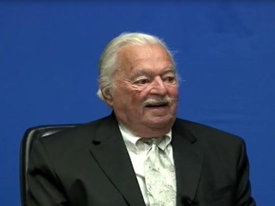Charles Bresler in September 2010, shortly before he died.