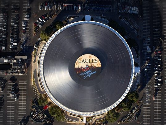 Eagles LP atop The Forum in LA