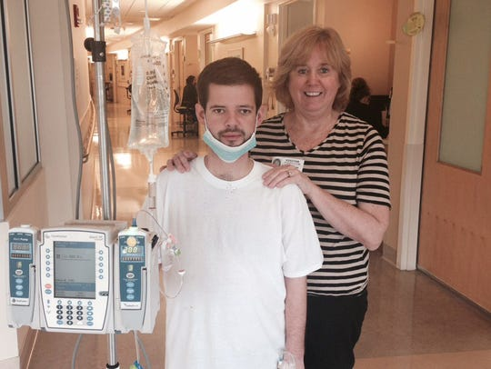 Cindy Jones with her son, Daniel Bowling, at The Medical