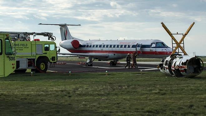 The emergency preparedness training exercise at the San Angelo Regional Airport involved a simulated crash between passenger and military aircrafts Thursday, July 13, 2017.