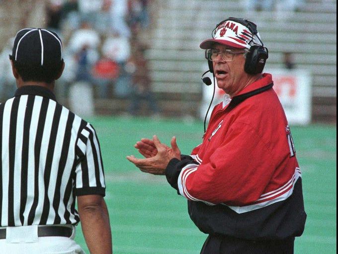 Indiana University head football coach Bill Mallory