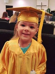 Elizabeth Lakey, 4, of Grant City, Mo., died in a car accident July 8.