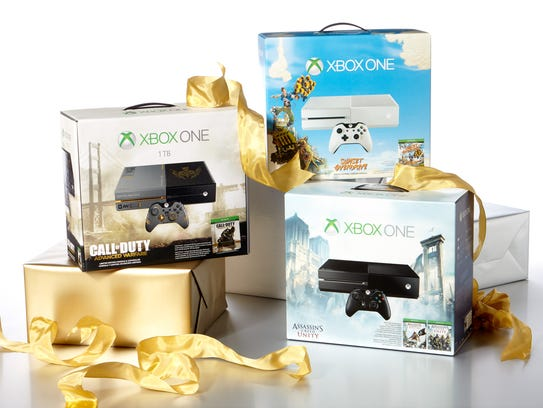 A selection of special edition Xbox One video-game