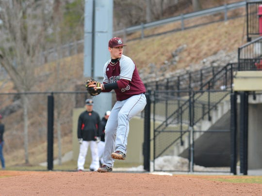 Jesse Stinnett pitches in a NCAA game. Stinnett has always enjoyed a challenge, and that's part of the reason he chose the University of Maryland Eastern Shore to continue his baseball career and why he signed early to boot.