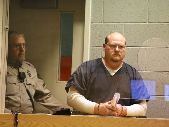 Peter Bass at his arraignment at the Marion County Circuit Court Annex on Jan. 22 in Salem.