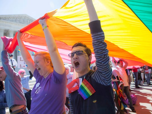US Supreme Court hearing same-sex marriage arguments