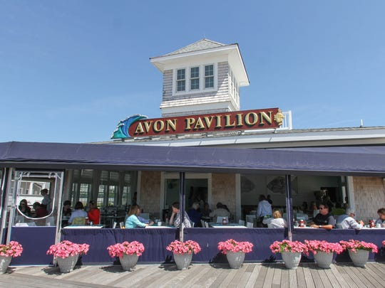 Avon Pavilion, which was completely rebuilt after superstorm Sandy, offers outdoor seating.