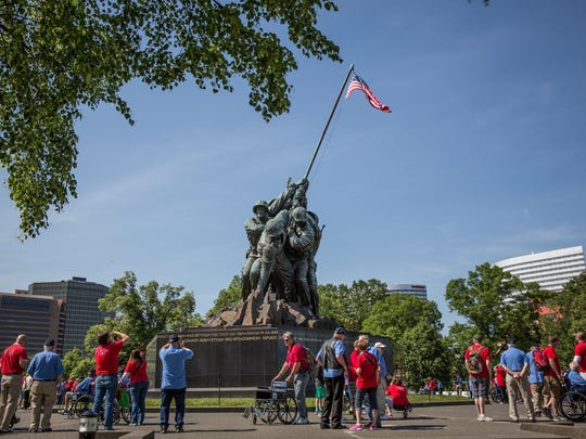 The Iwo Jima Memorial. The Old Glory Honor Flight Mission