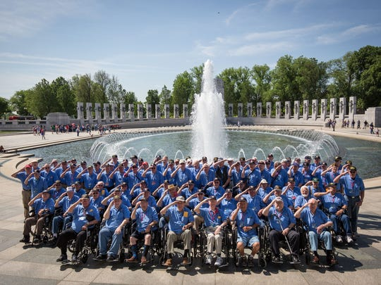 A group shot of all the verterans on Mission 29 at
