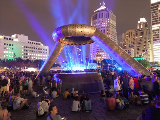 Hart Plaza was full of positive energy and thumping techno beats on day two of the Movement fest Sunday.