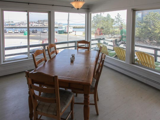 Looking from a dining room in Point Pleasant Beach's Casa Del Mar.