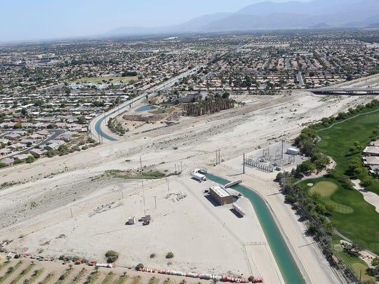 The Coachella Canal carries Colorado River water through Indio.