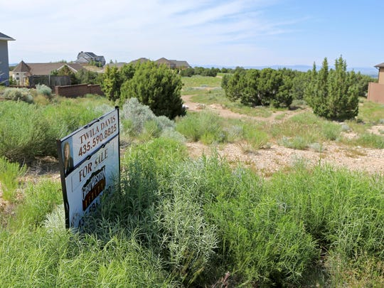 Development is already springing up around the future site of a new temple of The Church of Jesus Christ of Latter-day Saints at 300 S. Cove Drive in Cedar City. This lot is for sale on 400 South, just south of where the church will break ground for the temple on Aug. 8.