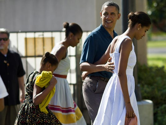 President Obama And Family Spend Holidays In Hawaii