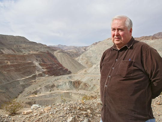 Terry Cook, vice president of Kaiser Eagle Mountain, talks about the large mine adjacent to Joshua Tree National Park.
