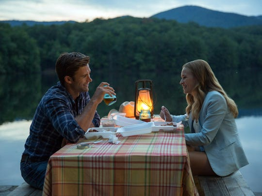 """A bull rider, Scott Eastwood, and ambitious student, Britt Robertson, are star-crossed lovers in """"The Longest Ride."""""""
