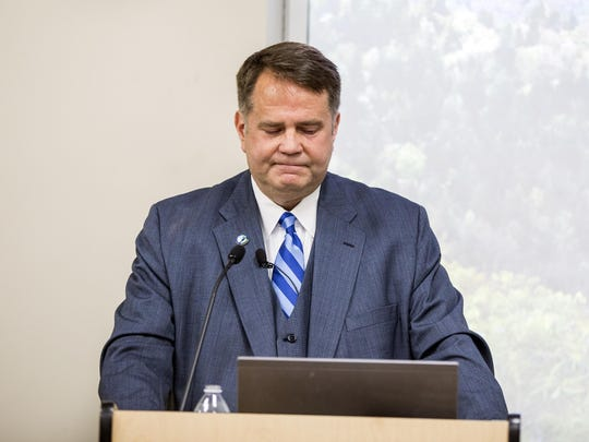 Buncombe County Commissioners Chairman David Gantt's announcement came amid rumors that he would not run or might step down immediately.