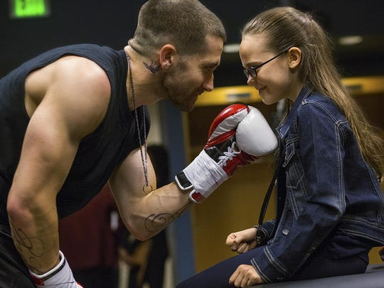 """Jake Gyllenhaal and Oona Laurence star in """"Southpaw."""""""