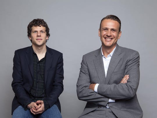 "Jesse Eisenberg, left, and Jason Segel star in ""The End of the Tour,"" which will open the Traverse City Film Festival on Tuesday."