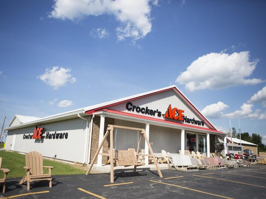 The Crocker's Ace Hardware Store in Le Roy just added a new lumber yard.