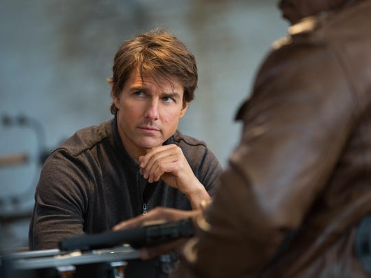 """Tom Cruise appears in a scene from """"Mission: Impossible"""