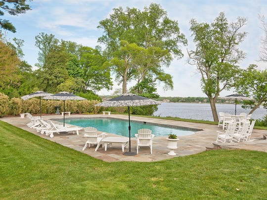 The pool sits on the Navesink River.
