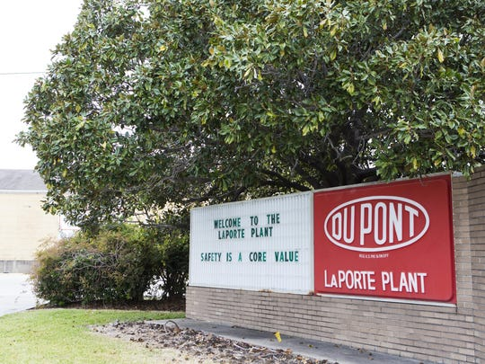 The DuPont facility in LaPorte, Texas, is shown on Nov. 15, after four workers were killed in an incident. Two unions have threatened actions against DuPont and Chemours over safety conditions at plants, including at the LaPorte facility.