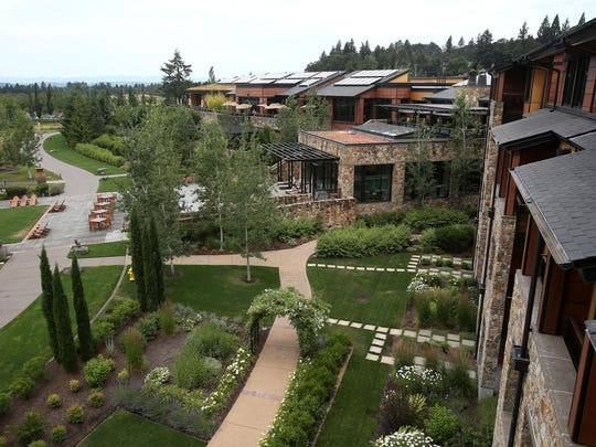 A view is seen from the Presidential Suite at The Allison Inn and Spa in Newberg.