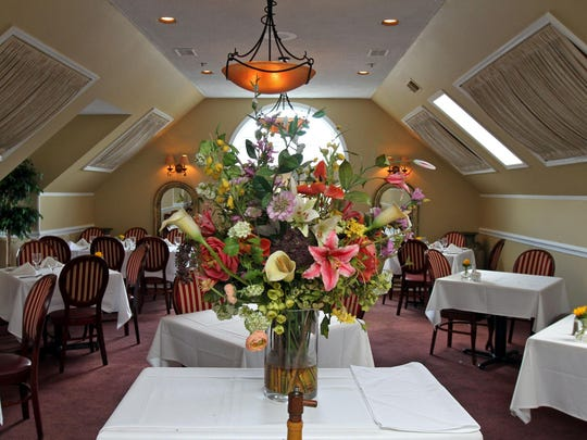 Vincenzo's Ristorante in Middlesex is owned by Rui Alves. This is the second floor dining room.