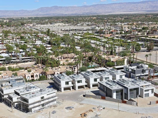 The Dakota project will have 39 single family homes when completed. The project is at the base of the mountain on Belardo Road in south Palm Springs.