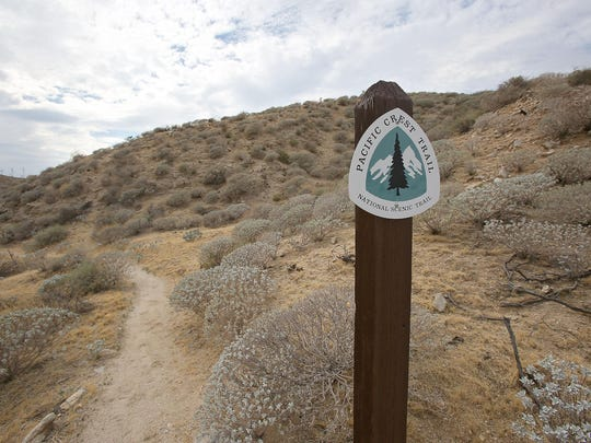 This part of the the Pacific Crest Trail, near the Whitewater Preserve, is part of the Sand to Snow National Monument.