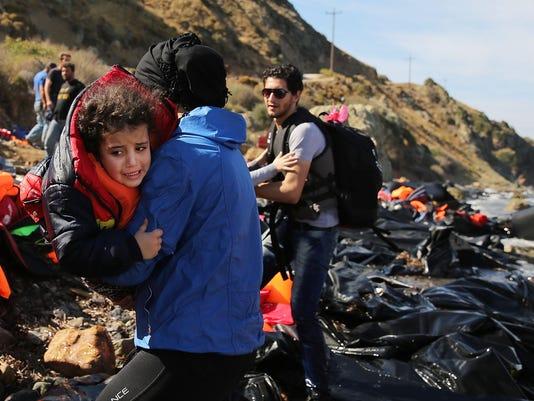 BESTPIX - Greek Island Of Lesbos Continues To Recieve Migrants Fleeing Their Countries