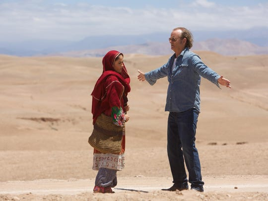 "Leem Lubany, left, and Bill Murray are seen in ""Rock the Kasbah."""