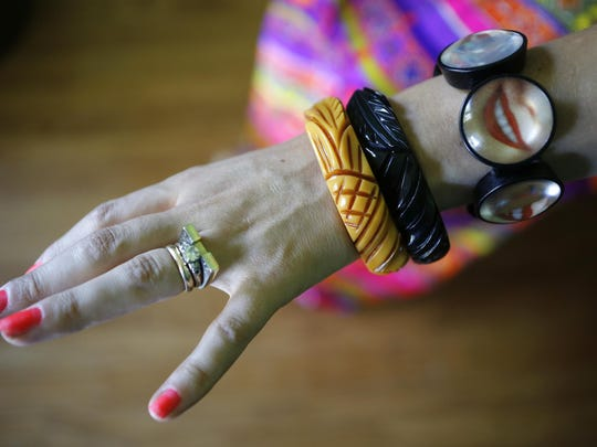 Olivia Griffin's bracelets are some of her favorite clothing accessories. Aug. 24, 2015.