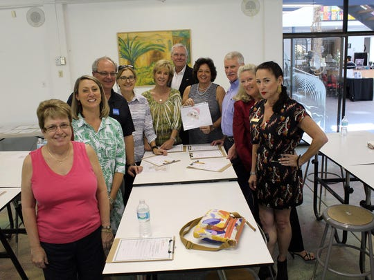 Organizers and judges are, from left clockwise, Barb Dasti, Brandy Simpson, Craig Woodward, Charlette Roman, Lori Wagor, Keith Dameron, Kathleen Passidomo, Tom Wagor, Bette McGilvray and Hyla Crane.