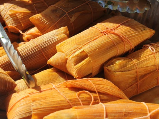 Tamales are also popular at the stand.