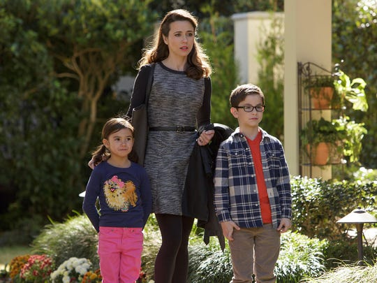 """Scarlett Estevez, from left, Linda Cardellini and Owen Vaccaro appear in """"Daddy's Home."""""""