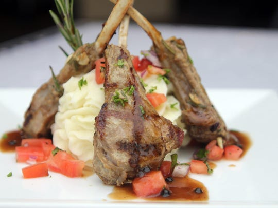 Baby lamb chops are on the smaller plates menu.