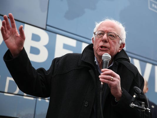 Democratic Presidential Candidate Bernie Sanders Meets With Local Steelworkers Union