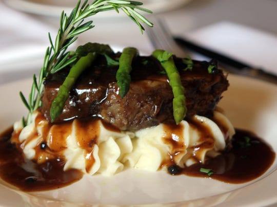 A suggested accompaniment to the Double T is chop239's short rib with demi sauce.