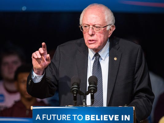 Front Runner Bernie Sanders Campaigns Across NH Ahead Of Primary