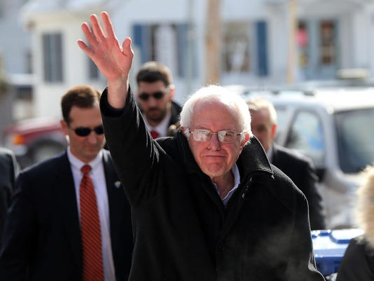 BESTPIX - Bernie Sanders Campaigns On New Hampshire Primary Day In Concord, NH