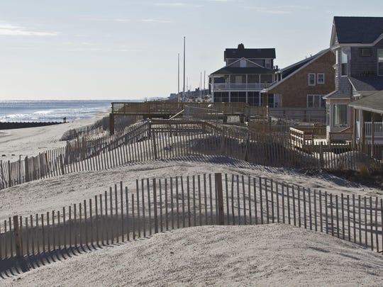 The Bay Head beachfront.
