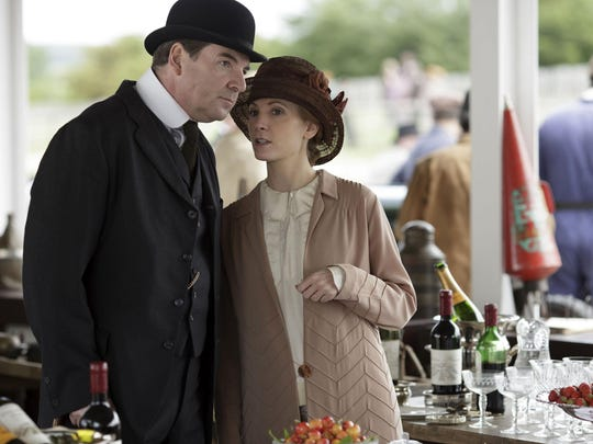 Brendan Coyle as Mr. Bates, left, and Joanne Froggatt