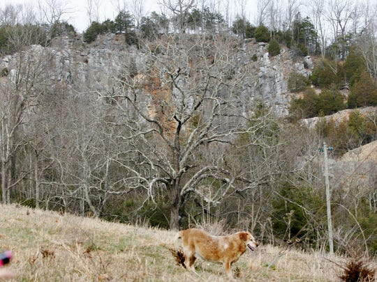 A cliff in Churchville, near the home of Ricky and