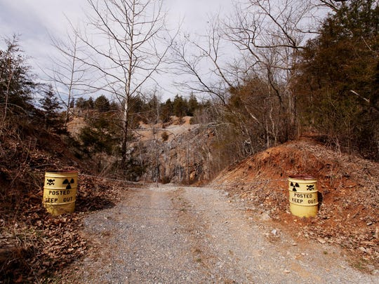 Private property where a quarry is located in Churchville is near the home of Ricky and Julie Short on Thursday, March 10, 2016. Short went to rescue his dog that was lost in the quarry Monday night then he needed to be rescued by local fire and rescue personnel early Tuesday morning.