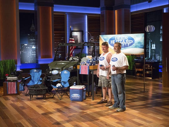 "A beer enthusiast duo, Tom ""Ozzy"" Osborne, and Mike Robb, appear Friday on ABC's ""Shark Tank"" to describe their product that offers a new way of keeping beer chilled for a longer amount of time."