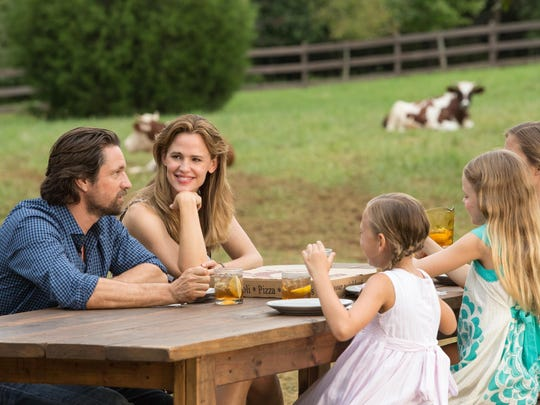"Martin Henderson, from left, Jennifer Garner, Brighton Sharbino, Kylie Rogers and Courtney Fansler are seen in a scene from ""Miracles from Heaven."""