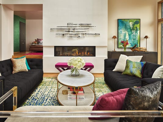 Homeowners inject bold colors and cat-friendly touches