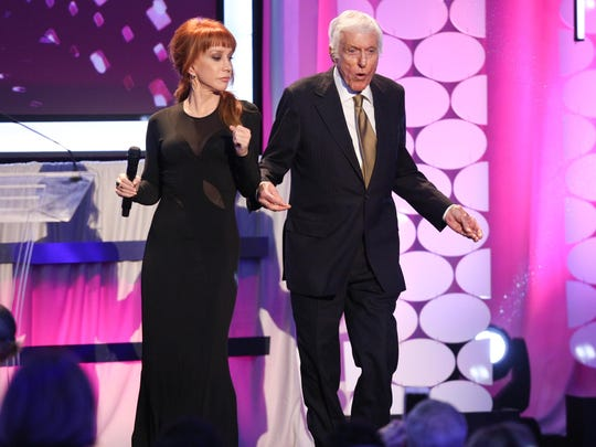 Kathy Griffin danced with Dick Van Dyke onstage in February at the 15th Annual Movies for Grownups Awards in Beverly Hills, Calif.